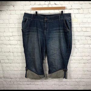 Lane Bryant cuffed cropped pants size 20